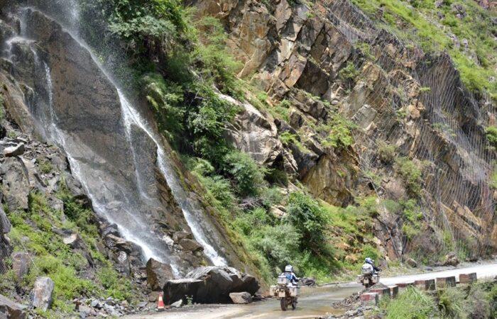 Mountain landscapes t Shangri-La, China motorbike tour