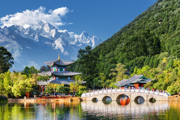 The Jade Dragon Snow Mountain, Lijiang, China